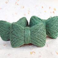 Мягкая пряжа из конопли Зеленая хвоя фото