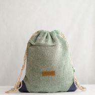 Рюкзак-торба из конопли Хеламбу голубой фото 1