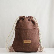 Рюкзак-торба из конопли Хеламбу коричневый фото 1