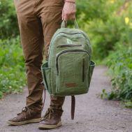 Рюкзак из конопли Патан зеленый фото 1