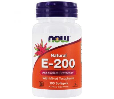 Витамин Е-200 натуральный Now Foods фото1