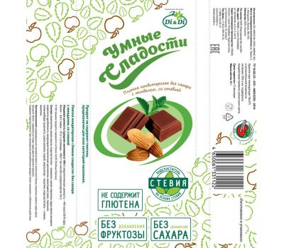 Шоколад с миндалем упаковка